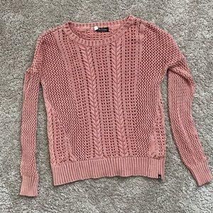 Volcom Pink Knit Sweater